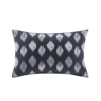 Nadia Dot Embroidered Cotton Lumbar Pillow - Wayfair