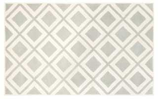 Aranka Rug, Gray/Ivory - 8' x 10' - One Kings Lane