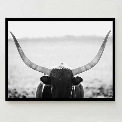 "Minted for west elm - Staredown - 40"" x 30"" - Framed (Black) - West Elm"