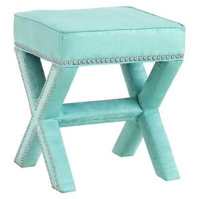 X-Frame Ottoman Stool - Pottery Barn Teen