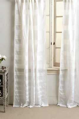 "Ascending Stripes Curtain- 63"" X 50"" - Anthropologie"
