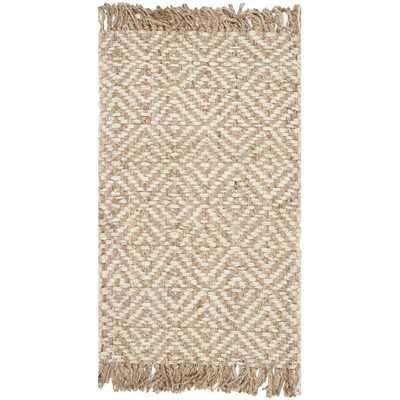 Natural Fiber Contemporary Natural & Ivory Area Rugby Safavieh - Wayfair