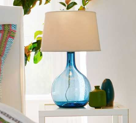 Eva Colored Glass Table Lamp - Pottery Barn