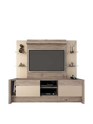 Manhattan Comfort Morning Side Entertainment Center, Nature and Nude - Amazon