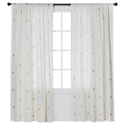 """Metallic Curtain Panel - 84"""" - Target"""
