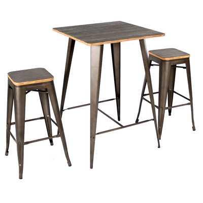 Oregon 3 Piece Pub Table Set - Wayfair