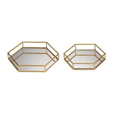 Mirrored hexagonal trays - Rosen Studio