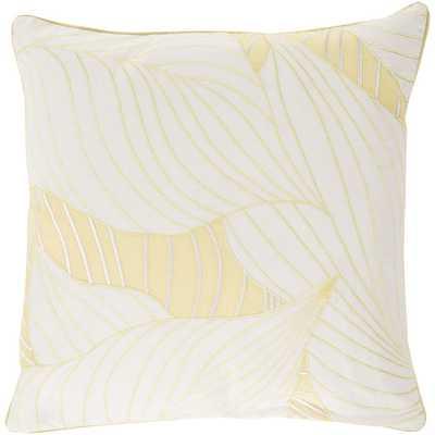 "Cotton Throw Pillow- 20""sq- Ivory/Butter- Polyester fill - AllModern"