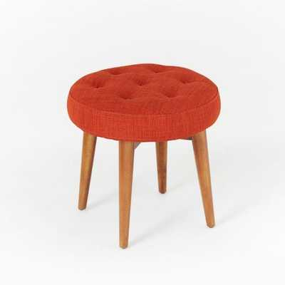 Mid-Century Upholstered Stool - West Elm