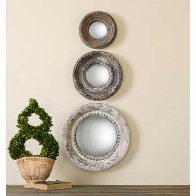 Adelfia 3 Piece Round Mirror Set - Wayfair