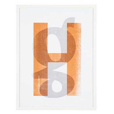 Personalized Stacked Initial Wall Art (Orange) - Land of Nod