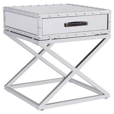 Southern Enterprises Lazio Industrial Mirrored End Table - Target