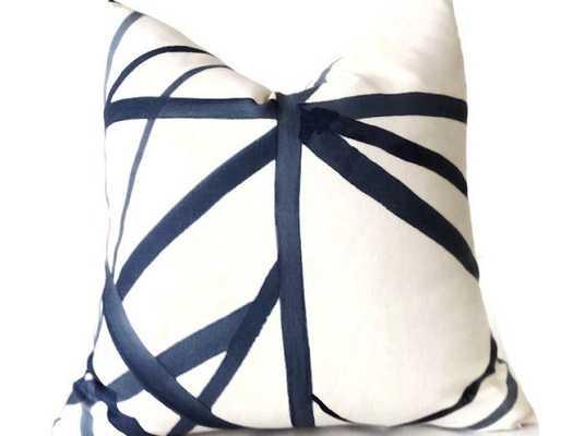 """Kelly Wearstler Pillow- 18"""" x 18""""- Beige, Blue, Light Blue-Insert Sold Separately - Etsy"""