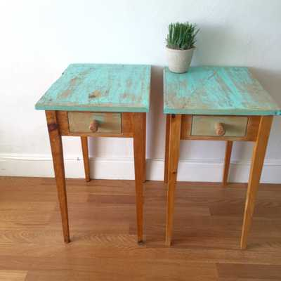 Nightstand 2 side tables - Etsy