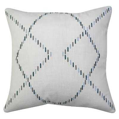 """Thresholdâ""""¢ Embroidered Lines Pillow 18"""" - Polyester insert - Target"""