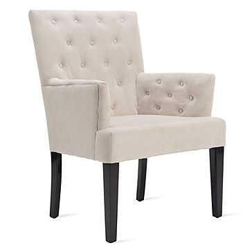 Lola Arm Chair - Bella Pearl - Z Gallerie