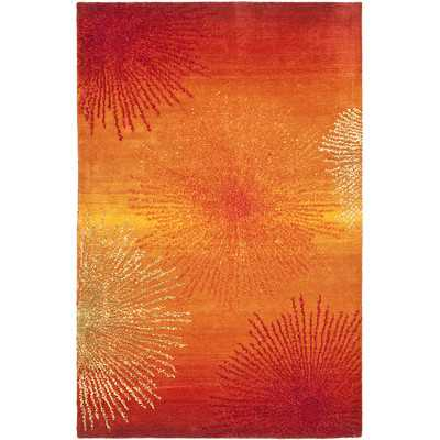 "Soho Rust & Orange Area Rug - 8'3"" x 11' - Wayfair"