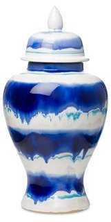 Watercolor Lidded Urn- Large - One Kings Lane