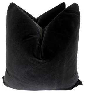 """Onyx Velvet Pillows, 24""""x24"""", pair - One Kings Lane"""