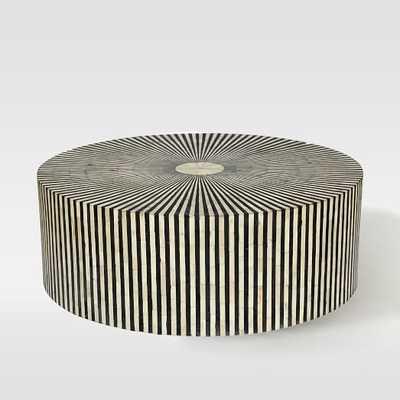 Stripe Inlay Coffee Table - West Elm
