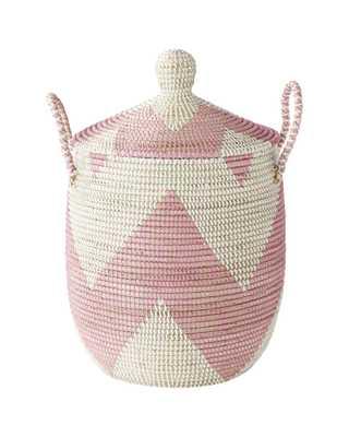 La Jolla Basket-Pink-Small - Serena and Lily