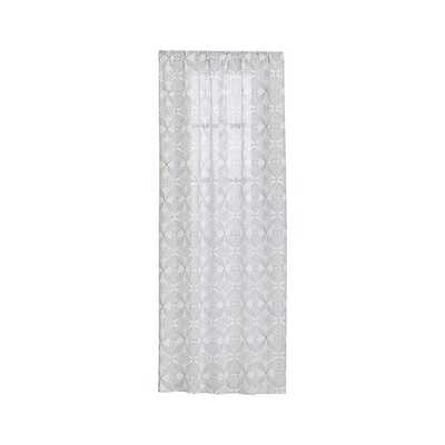 """Lila 48""""x96"""" Black and White Curtain Panel - Crate and Barrel"""