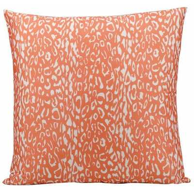 Nourison Mina Victory Orange Leopard Print Indoor/ Outdoor 20-inch Throw Pillow - Overstock
