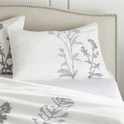 Set of 2 Woodland Blue Standard Pillow Shams - Crate and Barrel