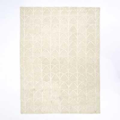 Scallop Wool Rug, 9'x12', Ivory - West Elm