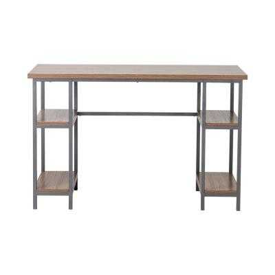 Laminated Particle Board Laptop Desk with 4-Shelf in Natural - Home Depot