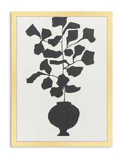 "Catherine Jones, Potted Fiddle Leaf Fig - 18"" x 24"" - Framed - One Kings Lane"