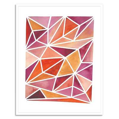"Minted for west elm - Fall Facets - 33""w x 42""l. - framed - West Elm"