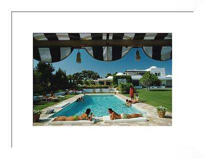 Poolside In Sotogrande - 37x28 - framed - Photos.com by Getty Images