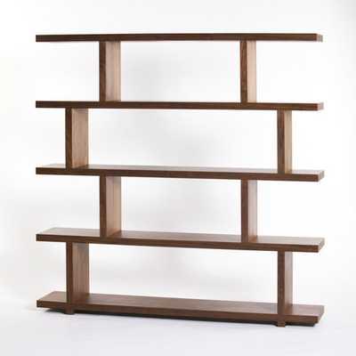 Aurelle Home Kamma Large Geometric Modern Bookshelf - Overstock