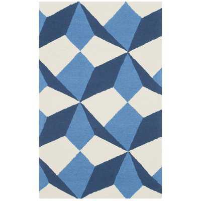 Four Seasons Ivory/Blue Area Rug - AllModern