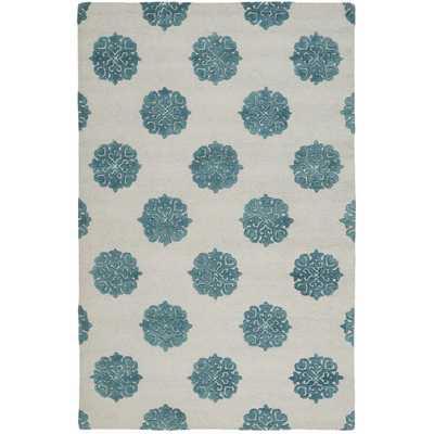 Soho Ivory/Blue Area Rug - Wayfair
