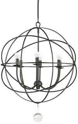 "Crystorama Solaris 22 1/2"" Wide English Bronze Pendant - Lamps Plus"