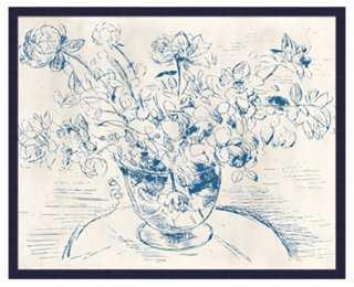 Blue & White Drawings - framed - One Kings Lane