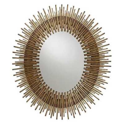 Prescott Oval Mirror - Domino