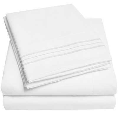 1800 Series 1800 Thread Count Sheet Set-King-White - Wayfair
