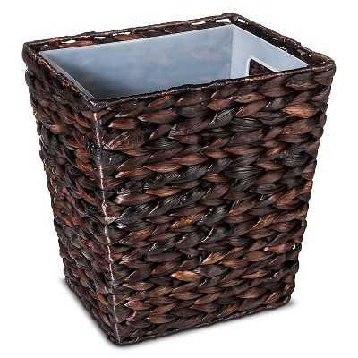 Threshold Wastebasket Dark Weave - Target
