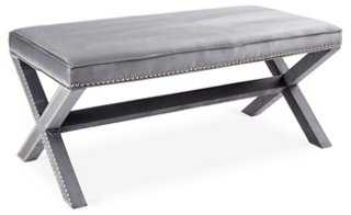 Emerson Bench, Slate Blue - One Kings Lane