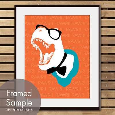 Art Print (Featured in Crimson Orange and Oceanic Blue)-Framed - Etsy