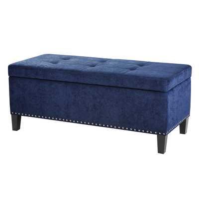 Shandra Tufted Top Bench Storage Ottoman - Blue - Wayfair