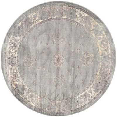 Safavieh Vintage Grey Traditional Rug - Round 6' - cymax.com