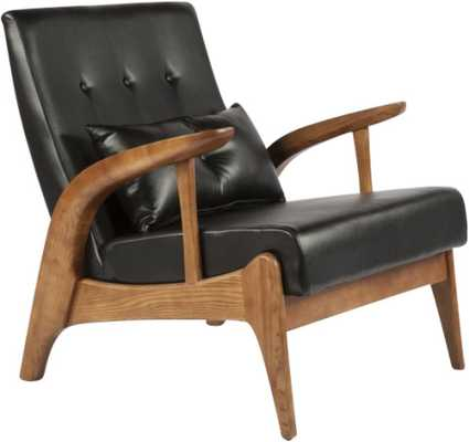 The Randers Arm Chair with Pillow - Domino