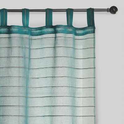 Blue Striped Sahaj Jute Curtains, Set of 2 - World Market/Cost Plus