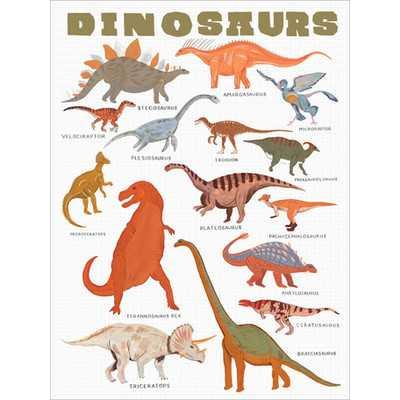 Dinosaur Canvas Art - 24x18 - Unframed - Wayfair