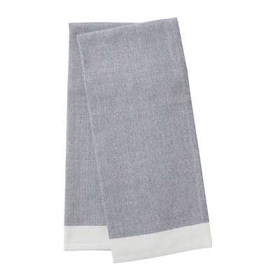 Coyuchi Diamond Chambray Kitchen Towel Set - Ocean - Wayfair