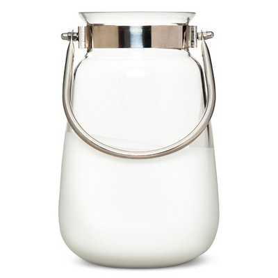 "Nate Berkusâ""¢ Small Dipped Glass Lantern - White - Target"